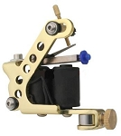 Drilled Adjustable Stainless Steel Tattoo Machine (GOLD)