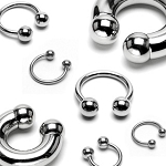 316L Surgical Stainless Steel Horseshoe Barbell