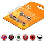 Labret Monroe with Assorted Logos Bonus Pack of 6 in 14g