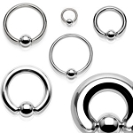 316L Surgical Stainless Captive Bead Ring