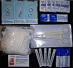 5 in 1 Deluxe Body Piercing Kit All Sterile Body Jewelry, Forceps, All-In-One Needles