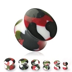 PAIR of 0G CAMOUFLAGE SADDLE PLUGS