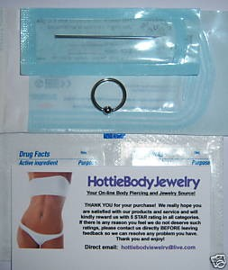 Mini Body Piercing Kit with Sterile Body Jewelry
