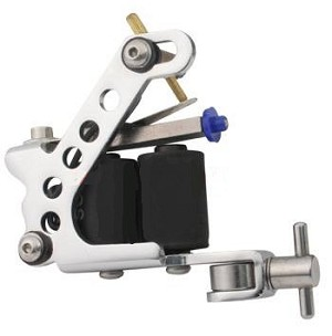 Drilled Adjustable Stainless Steel Tattoo Machine