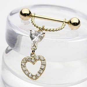 14K Solid Yellow Gold Nipple Shield (Sold per piece)