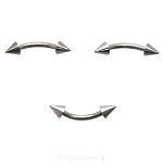 1 Pair of Steel Spike Eyebrow Rings