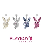 Playboy Bunny Gem Studded Belly Ring