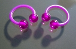 1 Pair Flexible Horseshoe Nipple Rings