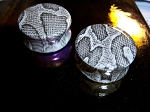 PAIR of Snakeskin Acrylic Plug Tunnel Ear Body Jewelry NEW!